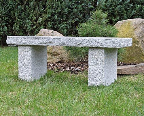 Granit Gartenbank Granitbank Stein Bank Naturstein Steinbank polierte Sitzfläche