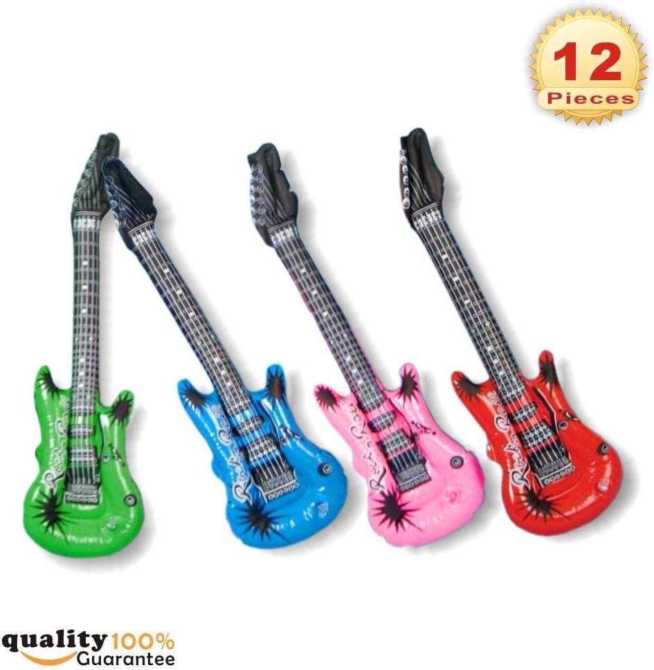 PMLAND Juguete inflable para guitarra eléctrica Rock Star, paquete ...