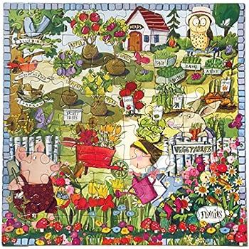eeBoo Growing a Garden Puzzle, 64 pieces