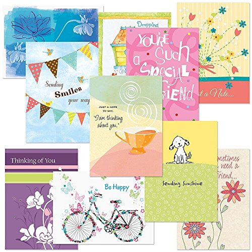 Thinking of You Cards Value Pack - Set of 20 (10 designs), Large 5