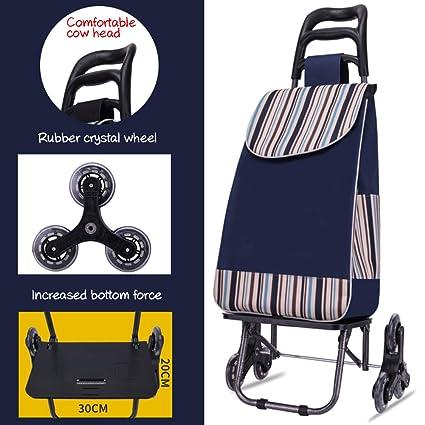 194034f78449 Amazon.com: DCRYWRX Portable Folding Shopping Cart Household with ...