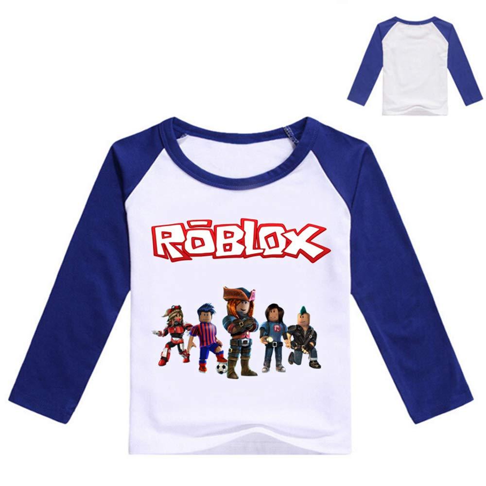 Roblox Felpe Stampate a Maniche Lunghe Tops Cartoon Girocollo Casual a T-Shirt per Ragazzo e Ragazza Bluse Sweatshirt Manica Lunga