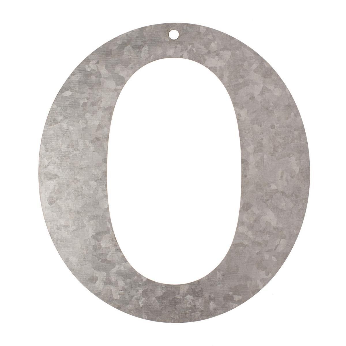 Glorex Letter O, Metal, Silver, 18x 16x 0.5cm