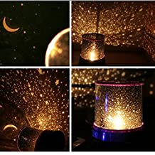 Romantic Galaxy Starry Sky Projector Night Light (Random Color,Powered by 3 AA Battery)