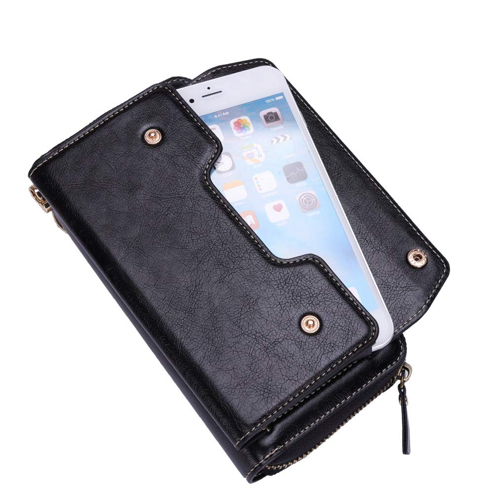 Amazon.com: 12 Cards Business Zipper Wallet Case+Cash Pocket ...