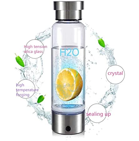 0ebf0b279b ELEGENCE-Z Portable Hydrogen Rich Water Ionizer Transparent Water Glass  With Lid High Quality BPA-Free Business Glass Cup Large Capacity Water  Bottle: ...