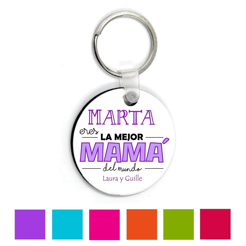 Kembilove Llaveros Personalizados Madres - Llavero Personalizado con nombre - Regalo para el día de la madre, Aniversario - Regalo Eres la Mejor Mamá del Mundo