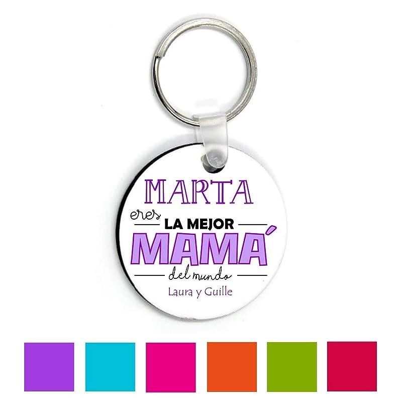 Kembilove Llaveros Personalizados Madres - Llavero Personalizado con nombre - Regalo para el día de la madre, Aniversario - Regalo Eres la Mejor Mamá ...