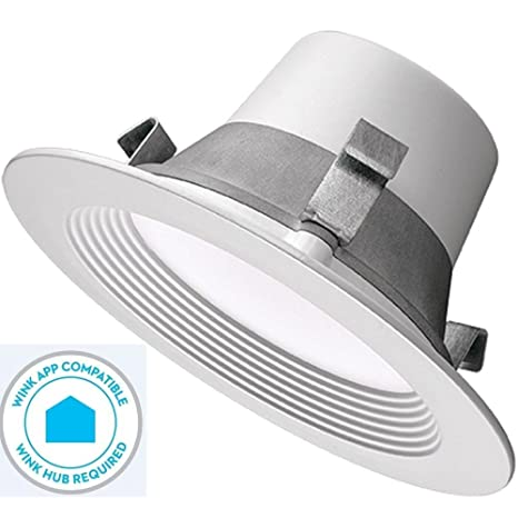new product 3b31f d7bd0 Commercial Electric T42 4 in. Matte White Recessed LED Smart Downlight