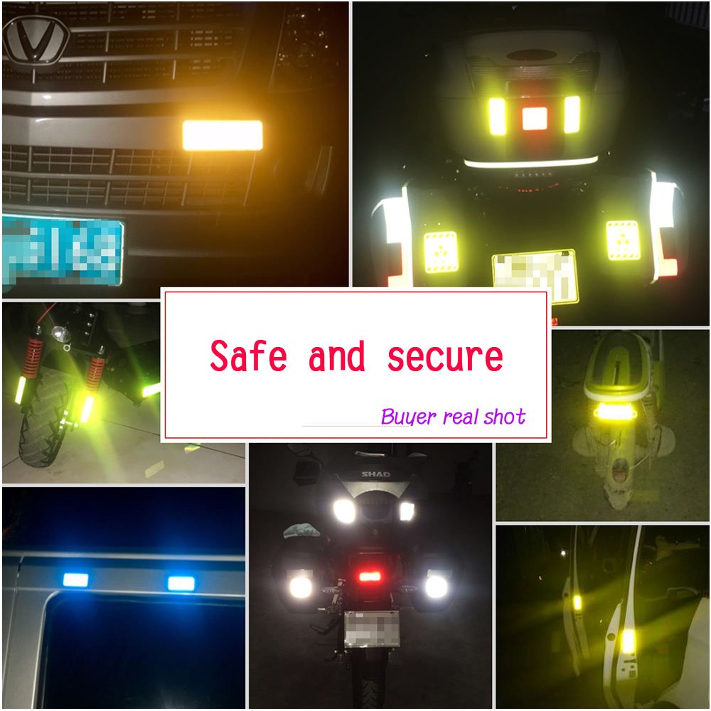 xj Waterproof diamond-grade all-weather outdoor safety reflective stickers for cars motorcycles and other safety needs bicycle//stroll//off-road vehicle//helmet High visibility and safety at night