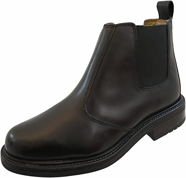 Mens Leather Leather Chelsea Boots with