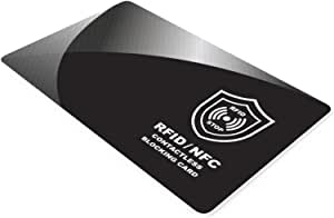 RFID NFC Blocking Card by INTERVISIO | Contactless Cards Protection | 1 Card Protects Your Entire Wallet | No Batteries Required, No More Sleeves Needed, Worry-Free Protection – Single Pack