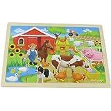Masterkidz Farm Wooden Jigsaw Puzzle,Multicolor