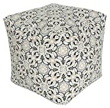 India House Outdoor/Indoor Pouf 18''X18''X18'' Mendoza Cobble