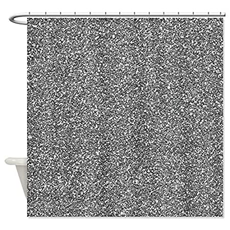 CafePress Silver Grey Glitter Shower Curtain