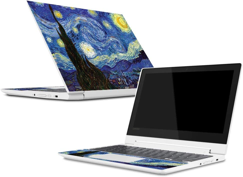 Mightyskins Skin Compatible with Lenovo Chromebook C330 (2018) - Starry Night | Protective, Durable, and Unique Vinyl Decal Wrap Cover | Easy to Apply, Remove, and Change Styles | Made in The USA