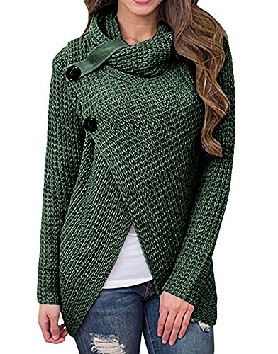 Daomumen Maternity Pullovers Women's Casual Pregnant O-Neck Cotton Nursing Up Long Sleeve Knit Sweaters by Daomumen