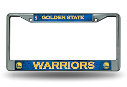 10889cb271b626 Image Unavailable. Image not available for. Color: Rico Golden State  Warriors Chrome Metal License Plate Frame