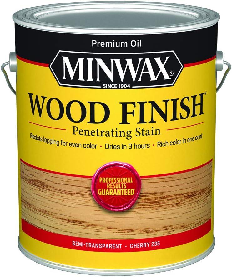 Minwax 710790000 Wood Finish - Penetrates, Stains & Seals, 250 VOC, gallon, Cherry