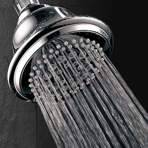 DreamSpa High-Power Ultra-Luxury Shower Head/7 Settings/Premium Chrome Finish/High-Fashion Bell Design by Dream Spa