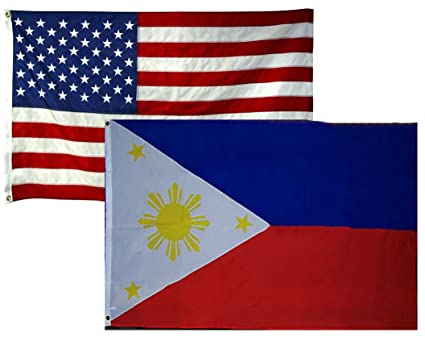 58cee979c52e 2 x3  Wholesale 2 Flag Combo USA American   Philippines Super Polyester  Nylon Flags