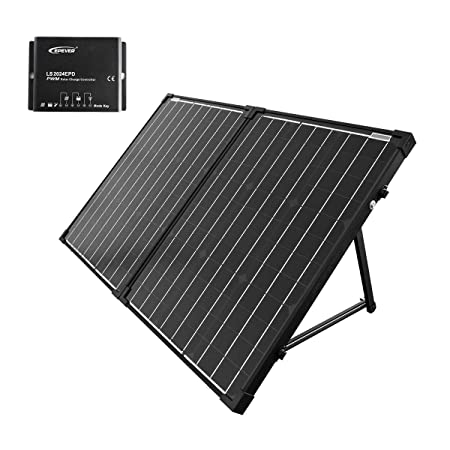ACOPOWER 100W Portable Solar Panel Kit, Waterproof 20A Charge Controller for Both 12V Battery and Generator
