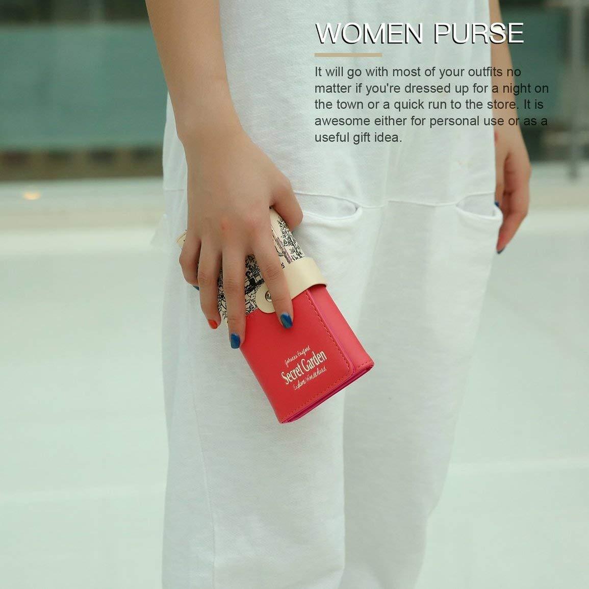 Fantasyworld Women Long Print Purse Multifunctional Hand Bag ...