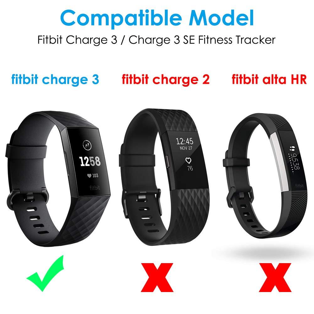 CAVN Compatible avec Fitbit Charge 3 Chargeur, Adaptateur de câble USB de Rechange Portable Station de Chargement Support de Chargement Haut de Gamme ...