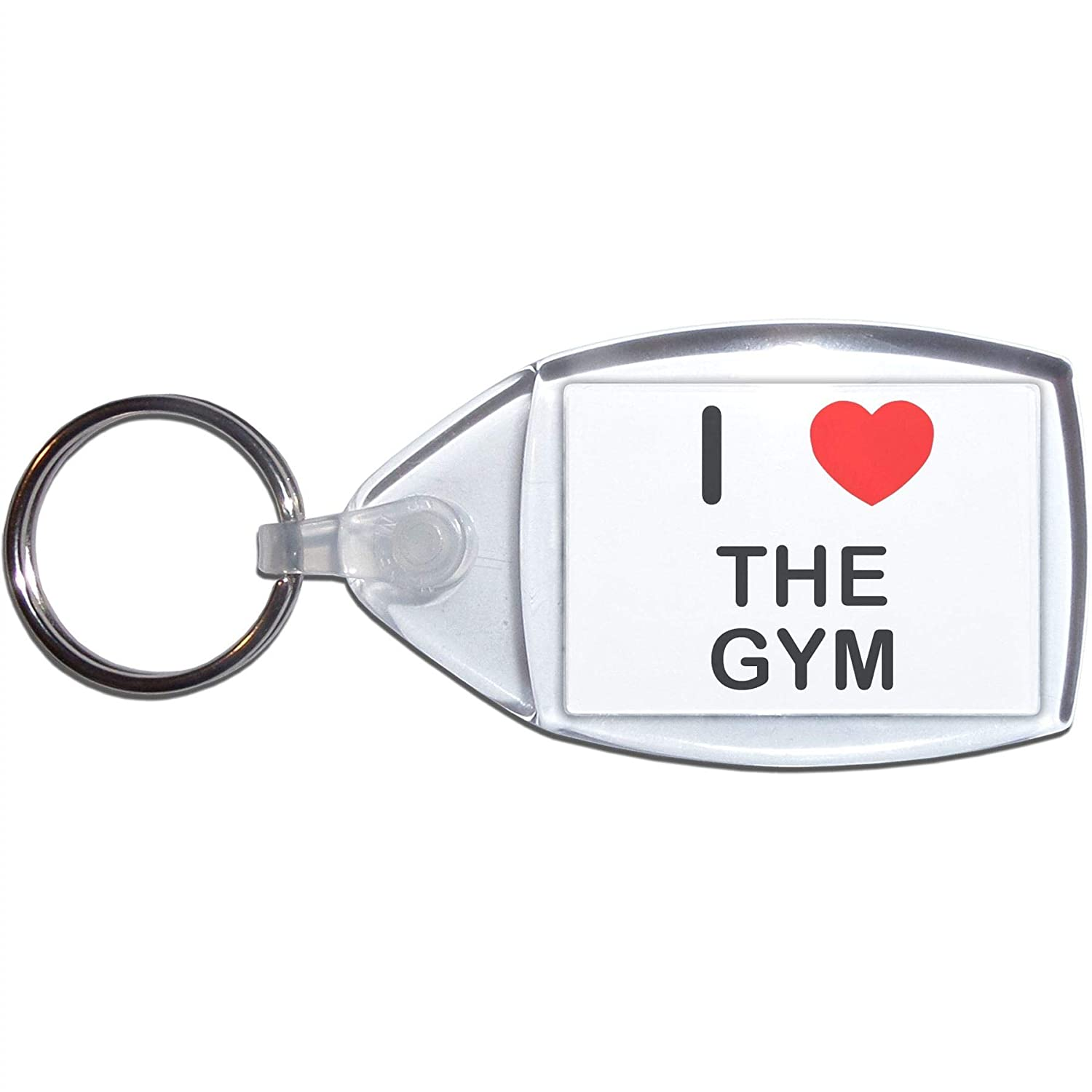 BadgeBeast.co.uk I love The Gym - Llavero plástico: Amazon ...