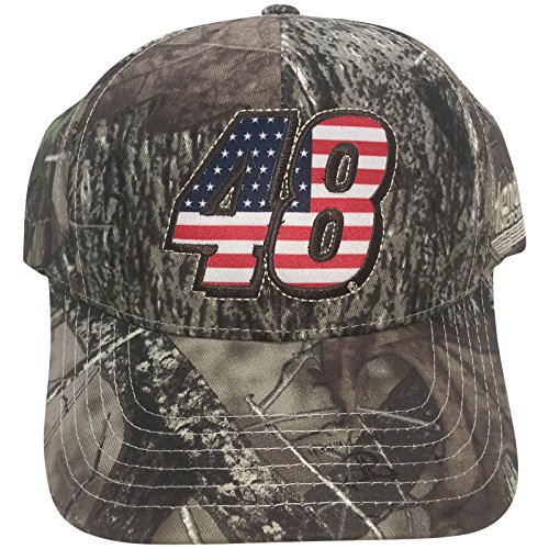 NASCAR Jimmie Johnson Flag Camo Men's Adjustable Hat - Jimmie Johnson Cap