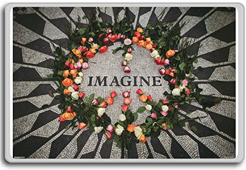 Imagine Central Park Mosaic John Lennon Memorial - Motivational Quotes Fridge Magnet