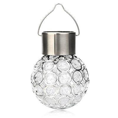 Sensail Rotatif Lampe Solaire Exterieur Lustre de Ballon Lampe Suspension Décoration pour Jardin (B)