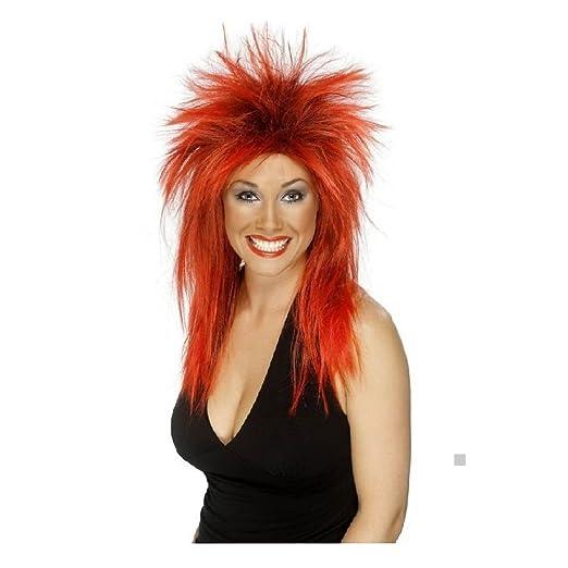 6c2c3f5eff Amazon.com  80s Wig Adult Womens Pop or Rock Star Costume Halloween ...