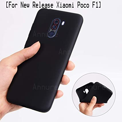 newest ab5ba 531b1 Annure® Slim Back Case Cover for Xiaomi Poco F1 (Black Matte)