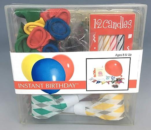 Mini cumpleaños-Set HAPPY BIRTHDAY con guirnalda, velas ...