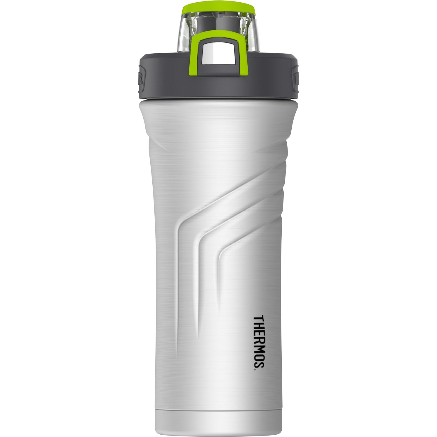 THERMOS Vacuum Insulated Stainless Steel Shaker Bottle with Integrated Stationary Mixer, 24-Ounce, Stainless Steel TS4256SS4