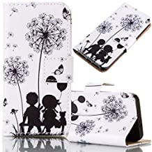 iPhone 6/6S Case, Bonice Magnetic Snap Flip Standing Wallet Case Ultra Slim Antiscratch Shockproof Protective Cover-Pattern 02