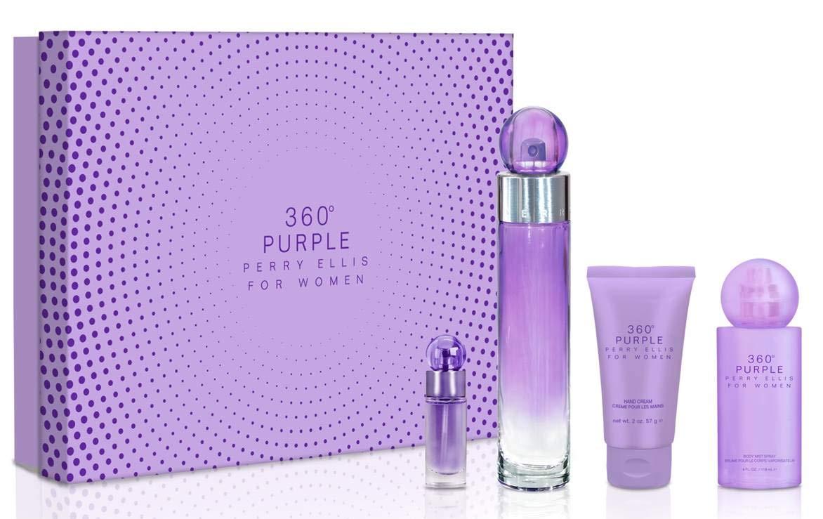 Perry Ellis Fragrances 360 Purple 4-piece Gift Set for Women by Perry Ellis Fragrances
