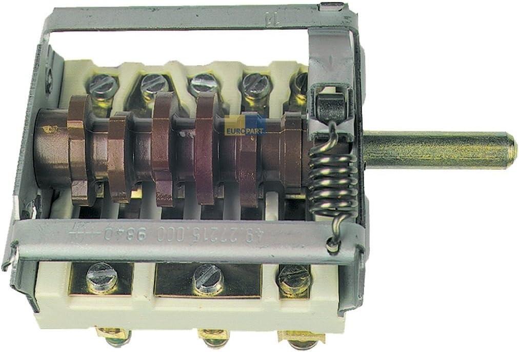 Kochplattenschalter 7-Takt Schalter Herd EGO 4927215000 wie Küppersbusch 508956