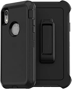 iPhone Xs Max Case, LongRise Robost 3-Layer Shockproof Anti Drop Heavy Duty Case Compatiable with New Apple iPhone Xs Max 6.5 inch (Case, iPhone Xs Max 6.5 inch)
