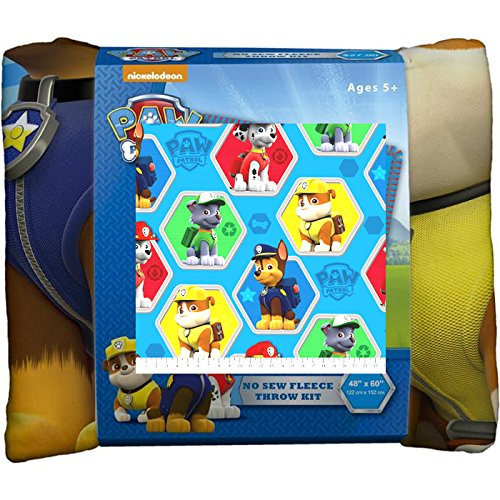 Paw Patrol No-Sew Throw Anti-Pill Fleece Fabric Kit by David Textiles