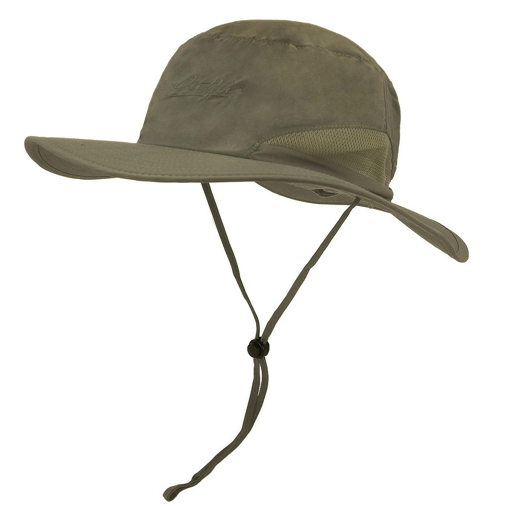 lethmik Outdoor Fishing boonie Hat Summer Quick Dry Wide Brim Safari Sun Hat  product image 7970ba56f