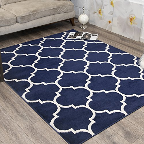 Ottomanson RYL1324-5X7 Royal Collection Trellis Design Area Rug, 5'3