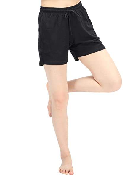 discount up to 60% choose original good service WEWINK CUKOO Women Shorts Cotton Sleep Shorts Stretchy Lounge Shorts with  Pockets