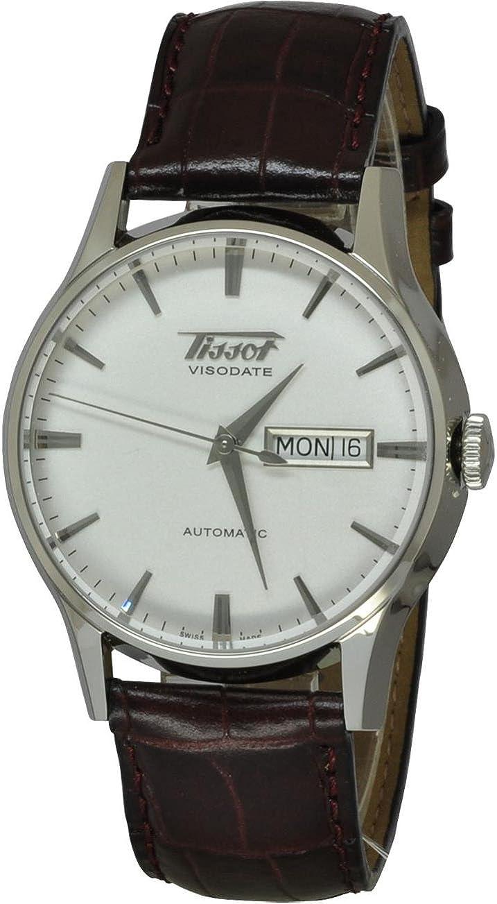 Tissot VISODATE T0194301603101 - Reloj de Caballero de Cuarzo, Correa de Piel Color Negro