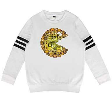 a604281e8 Amazon.com: Pac-Man-Game-Character- Boys Girls Hoodie Sweatshirt ...