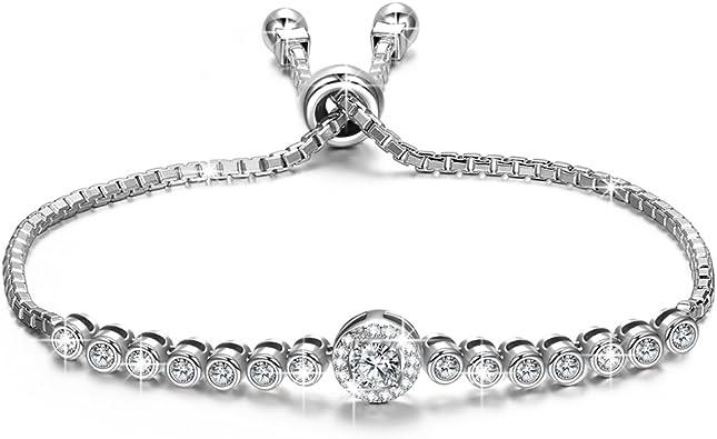 Alex Perry Regalo pulseras mujer pulsera plata mujer pulseras mejores amigas mujer joyas para mujer bisuteria mujer joyeria mujer regalos originales para mujer: Amazon.es: Joyería