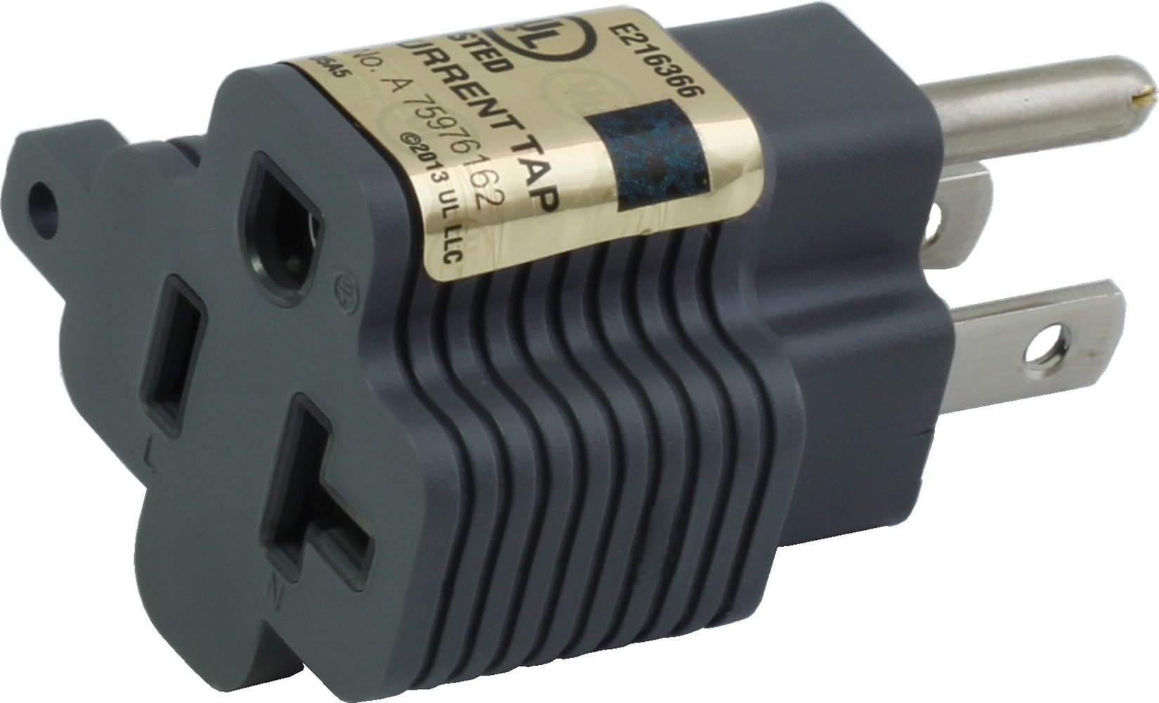 AC Works Xh515520 15 Amp Household Plug to 20 T Blade Female Adapter ...
