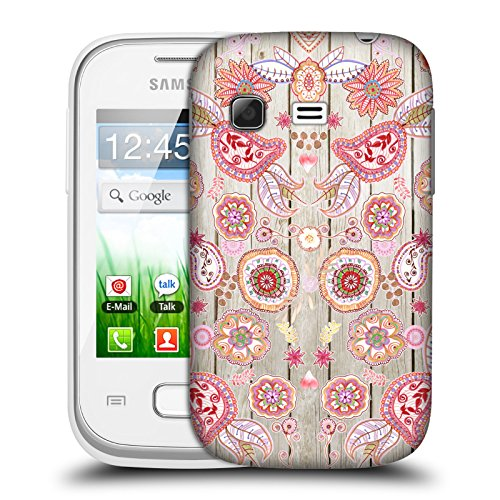 Official Monika Strigel Pink 3 Bring Me Flowers 3 Hard Back Case for Samsung Galaxy Pocket S5300 (Samsung Pocket S5300 compare prices)
