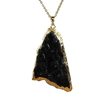 Amandastone Gemstone Natural Black Tourmaline Pendant Necklace 20 ImSUu4